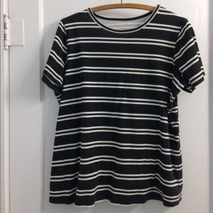 Woman Within black and white striped tee 14/16